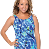 Swimsuit with 3 button adjustable straps.  Comes in sizes: 8-20 only