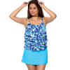 Spaghetti Stap Tankini with 3 layers in front (has adjustable straps)  Waist length.   Comes in sizes: 8-20 & 18W-32W